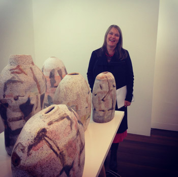 My ceramics in the exhibition, 'The Course of Objects' at the Manly Art Gallery (1/6)