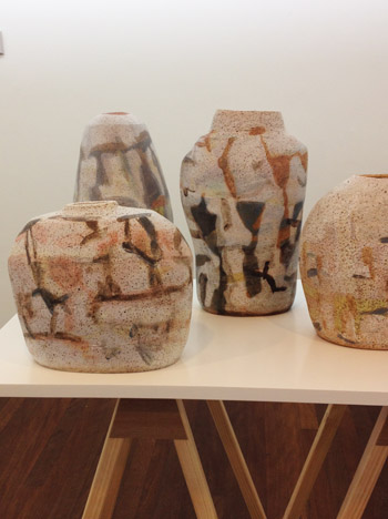 My ceramics in the exhibition, 'The Course of Objects' at the Manly Art Gallery (6/6)