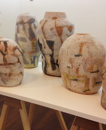 My ceramics in the exhibition, 'The Course of Objects' at the Manly Art Gallery (5/6)